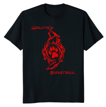 wolfpack t shirt red letters