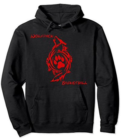 wolfpack hoodie red letters